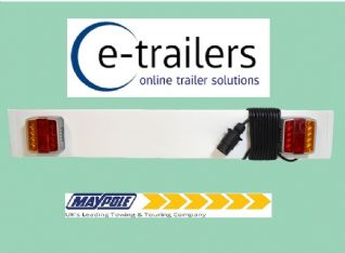 3ft Maypole LED Trailer Light Board 4m cable Tractor Jetski Boat dolly MP271PLED